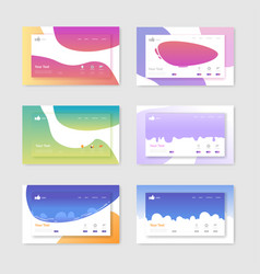 set website templates landing page layouts vector image
