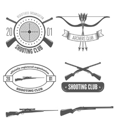 Shooting club label collection of elements and vector