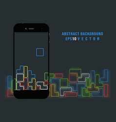 smartphone on old video game background vector image