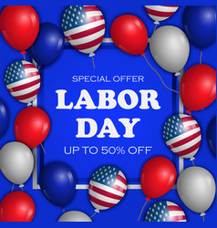 special offer labor day concept background vector image