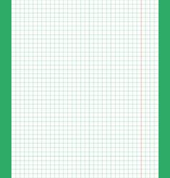 standart notebook sheet vertical cage 5 millimeter vector image