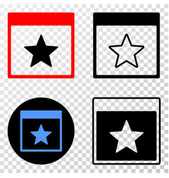 star calendar page eps icon with contour vector image