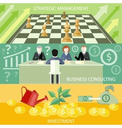 Strategic management business consulting vector image