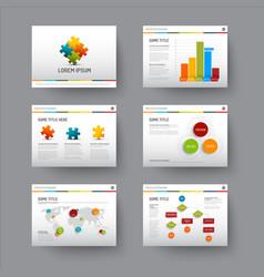 template for presentation slides vector image