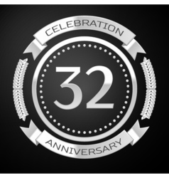 Thirty two years anniversary celebration with vector
