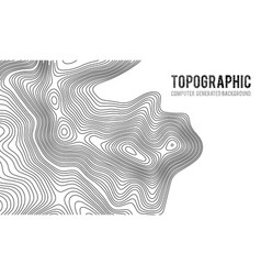 Topographic map contour background topo map vector