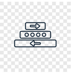 u turn concept linear icon isolated on vector image