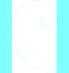 Vertical blank golden ratio template with guides vector