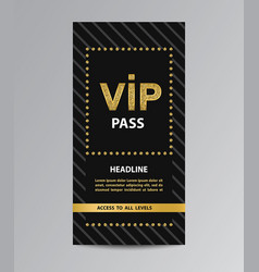 vip pass admission vector image