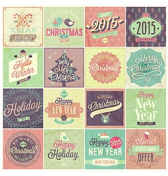 christmas emblems set2 vector image