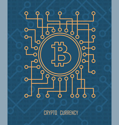 crypto currency monetary vector image