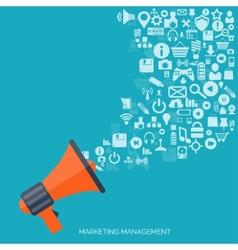 Flat loudspeaker icon Administrative management vector image