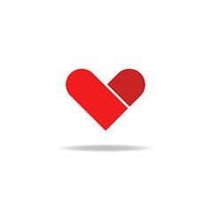 Heart graphic love shape mockup logo vector image vector image
