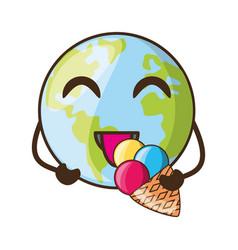 planet earh cartoon vector image