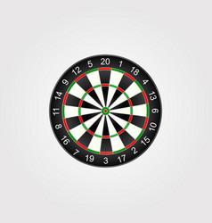 classic darts board target vector image