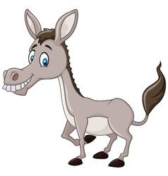 Funny donkey isolated on white background vector image vector image
