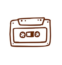Hand Drawn Cassette vector image vector image