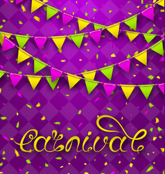 hand drawn lettering for carnival party with vector image vector image