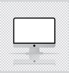 isolated desktop computer icon pc monitor icon in vector image vector image