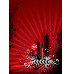 red city vector image vector image