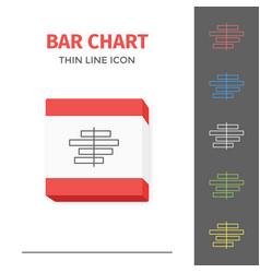Simple line stroked chart or graph icon vector