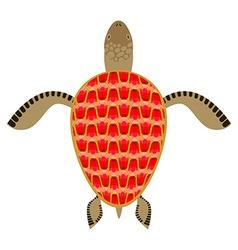 Garnet turtle Shell Aquatic Turtle with precious vector image vector image