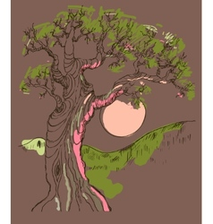 Hand drawn tree symbol isolated vector image vector image