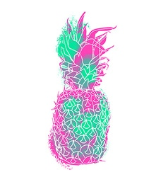 Modern pineapple paint art with summer color vector image vector image