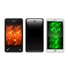 touch screen phone vector image