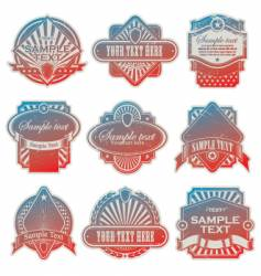 vintage USA labels vector image