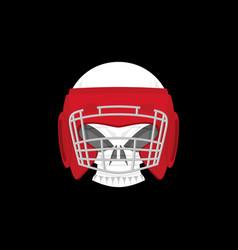 boxing logo sports emblem skull and boxing gloves vector image vector image