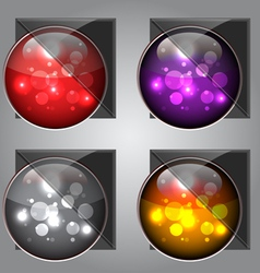 glossy colorful buttons vector image vector image