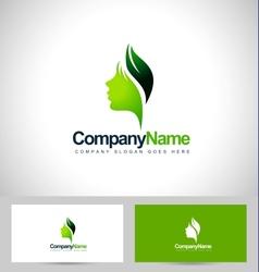 Leaf face logo vector image vector image