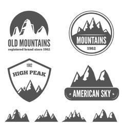 Set of vintage emblem label print or logotype vector image vector image