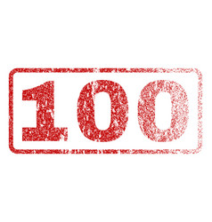 100 rubber stamp vector image