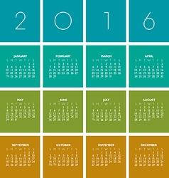 2016 boxes Calendar vector