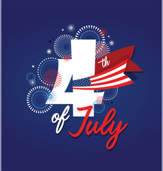 4th july fireworks background celebration usa vector