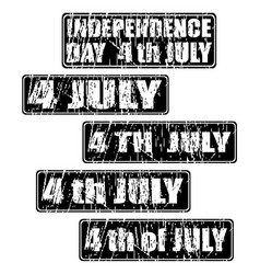 4th of july celebration rubber stamp vector