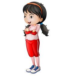 a baseball athletes character vector image