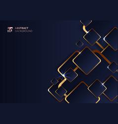 Abstract futuristic geometric golden square vector