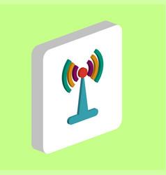 antenna computer symbol vector image