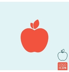 Apple icon isolated vector image
