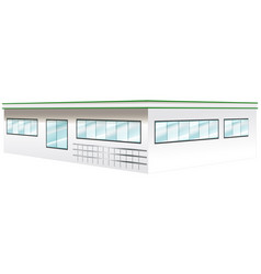 architecture design for wide building vector image