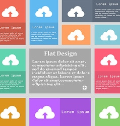 Backup icon sign Set of multicolored buttons with vector