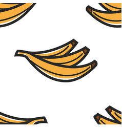 banana seamless pattern palm fruit brazil symbol vector image