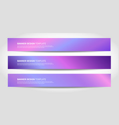 banners with abstract neon background vector image