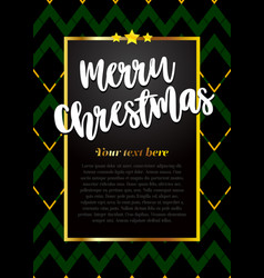 beautiful greeting card merry christmas vector image