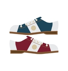 Bowling shoes icon vector
