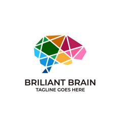 Brain design concept template vector