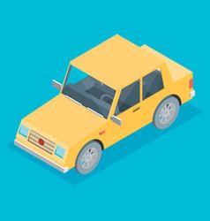 car isometric vector image